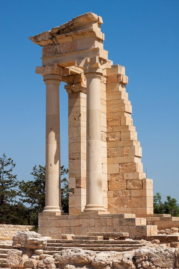 KOURION, CYPRUS/GREECE - 24-ОЕ ИЮЛЯ: Висок Аполлона на Kourion i стоковое изображение rf