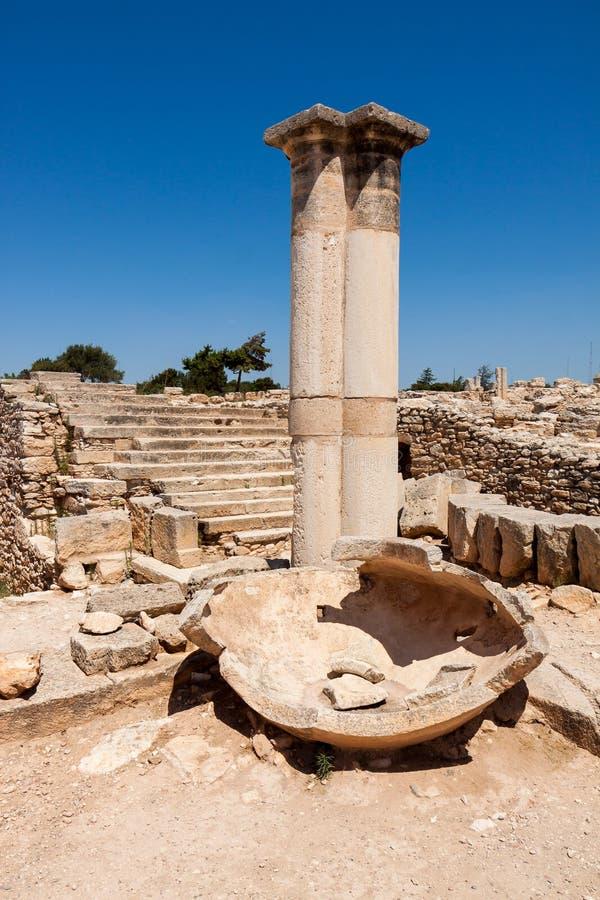KOURION, CYPRUS/GREECE - 24 JUILLET : Temple d'Apollo près de Kourion photographie stock