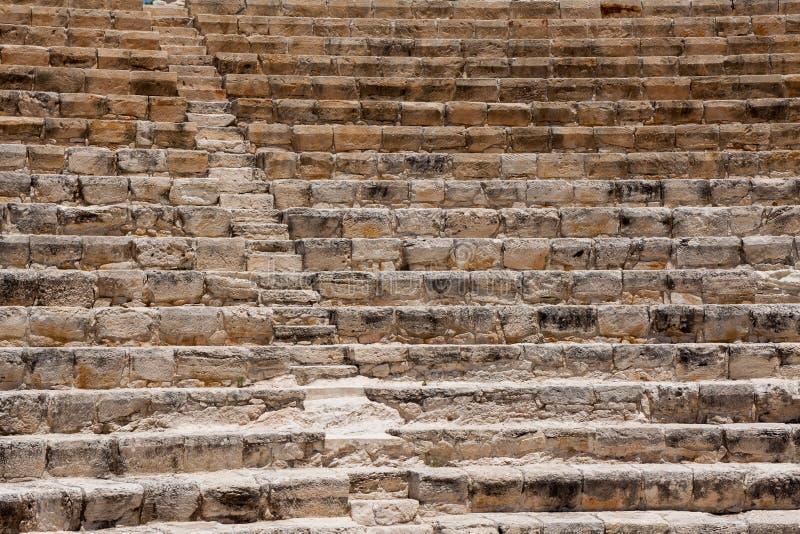 KOURION, CYPRUS/GREECE - 24 JULI: Hersteld ampitheatre in royalty-vrije stock fotografie