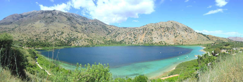 kournos jeziora panorama obraz stock