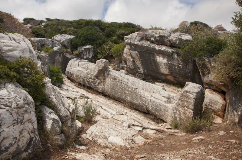Kouros-Statue von Naxos lizenzfreie stockbilder