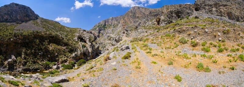 Kourtaliotiko gorge on Crete island, Greece royalty free stock photography