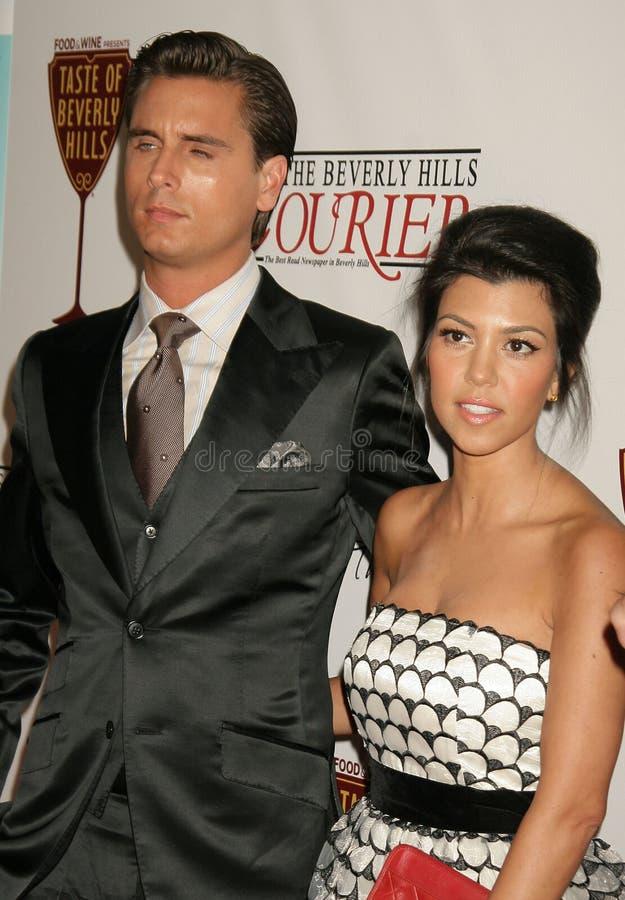 Kourtney Kardashian, Scott Disick photographie stock libre de droits