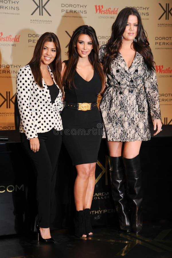 Kourtney, Kim et Kloe Kardashian photographie stock libre de droits