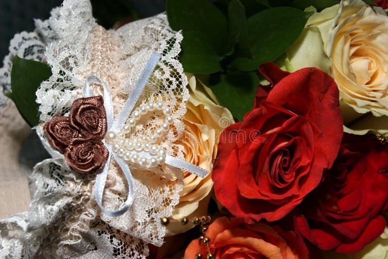 Kouseband Van De Bruid Royalty-vrije Stock Afbeelding