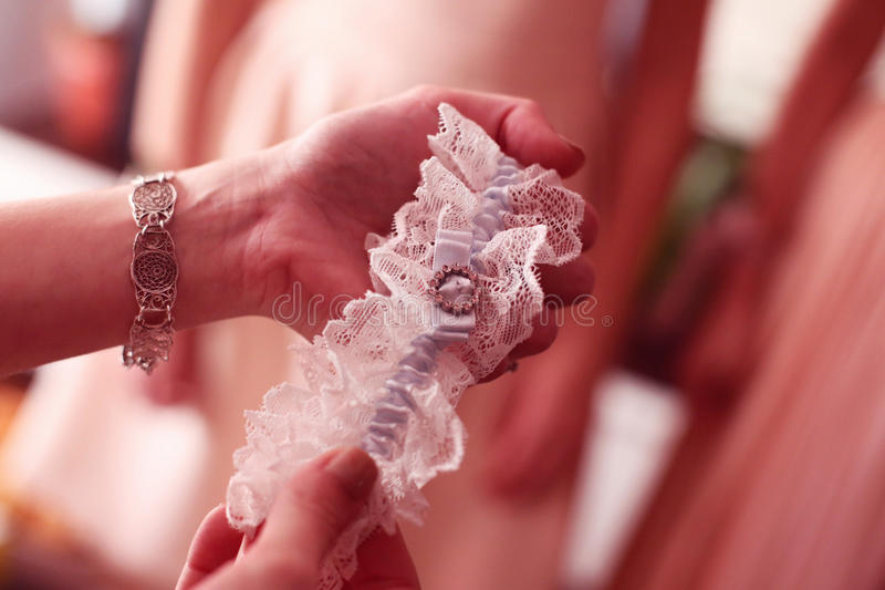 Kouseband voor de bruid royalty-vrije stock foto's