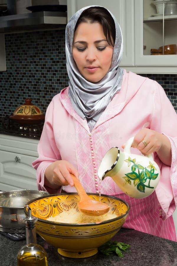 Kouskous voor Ramadan royalty-vrije stock afbeelding