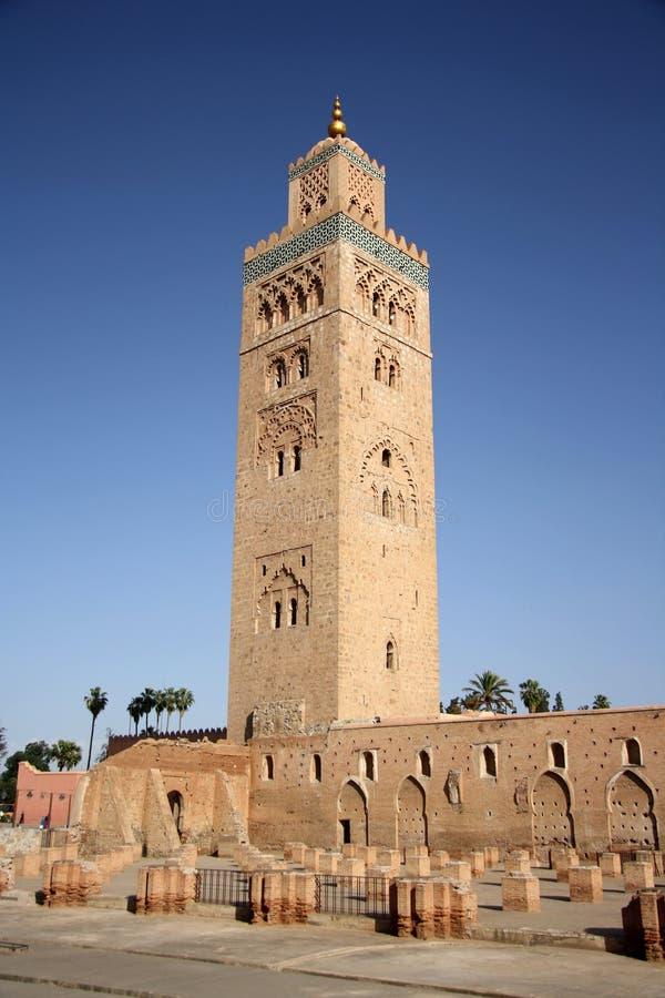 koutoubia马拉喀什尖塔最高摩洛哥的清真寺 库存图片
