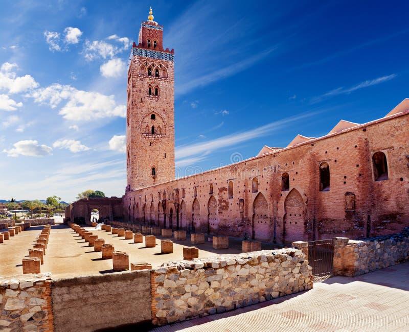 koutoubia马拉喀什摩洛哥清真寺 图库摄影