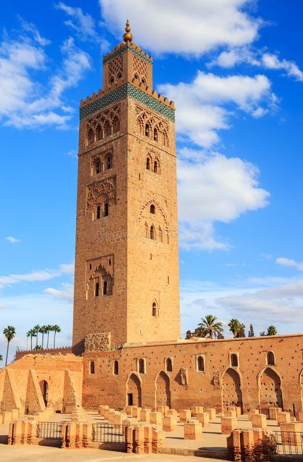 Koutoubia in Marrakech, Marokko stock afbeeldingen