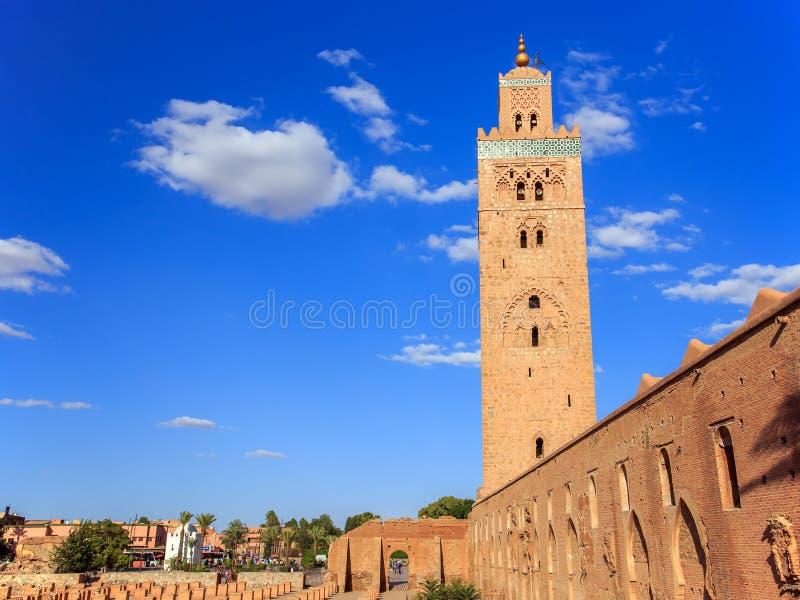 Koutoubia in Marrakech, Marokko royalty-vrije stock fotografie
