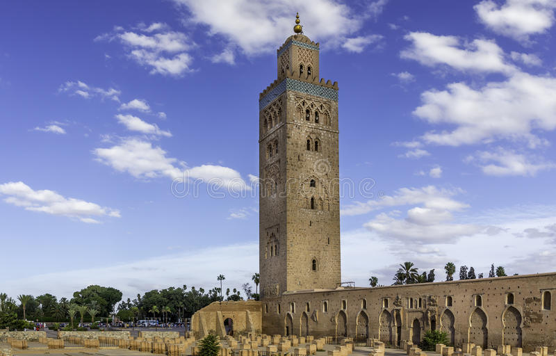 Koutoubia in Marrakech, Marokko royalty-vrije stock foto's