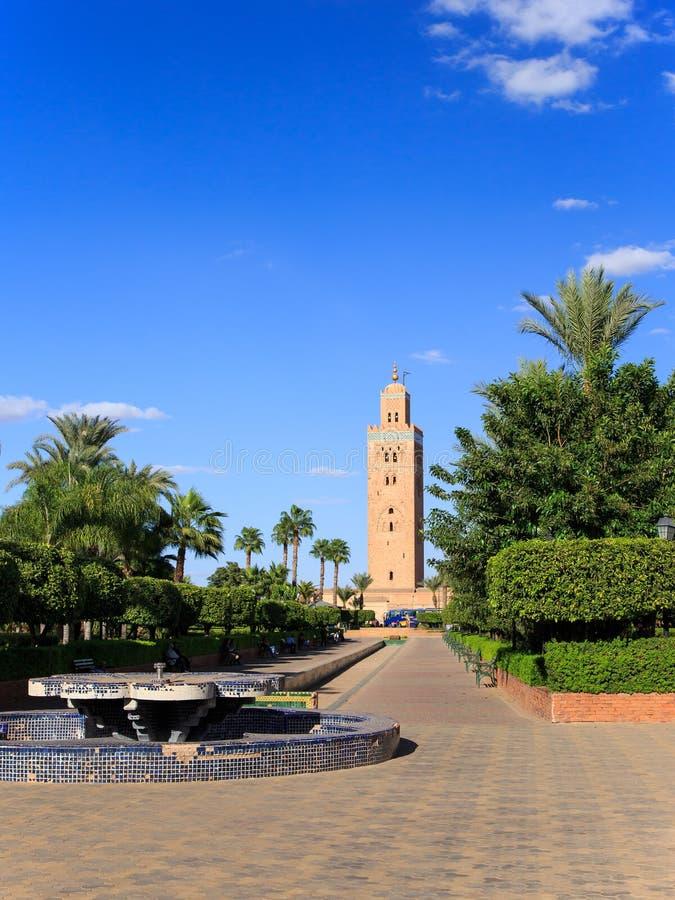 Koutoubia in Marrekesh, Marokko stock afbeelding