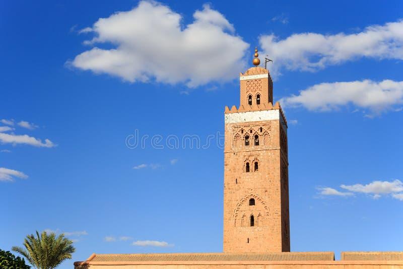 Koutoubia in Marrekesh, Marokko royalty-vrije stock foto's