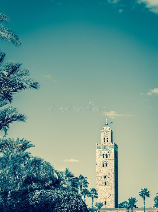 Koutoubia in Marrekesh, Marokko royalty-vrije stock afbeelding