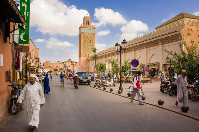 Koutoubia Meczet Marrakech Maroko zdjęcie stock