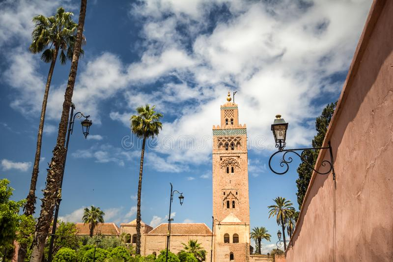 Koutoubia meczet w Marrakech fotografia stock