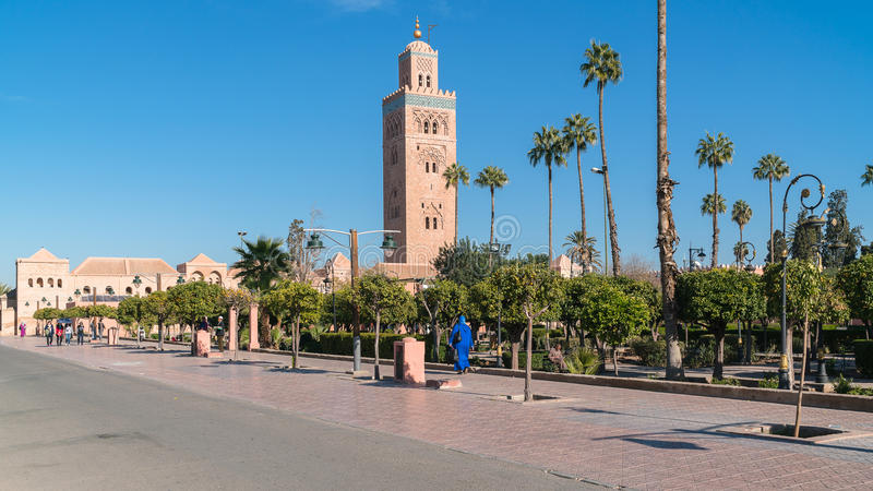 Koutoubia-Moschee, Marakesh lizenzfreie stockfotos