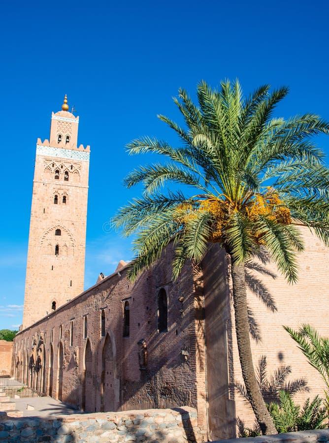 Koutoubia mosk? i Marrakech arkivfoto