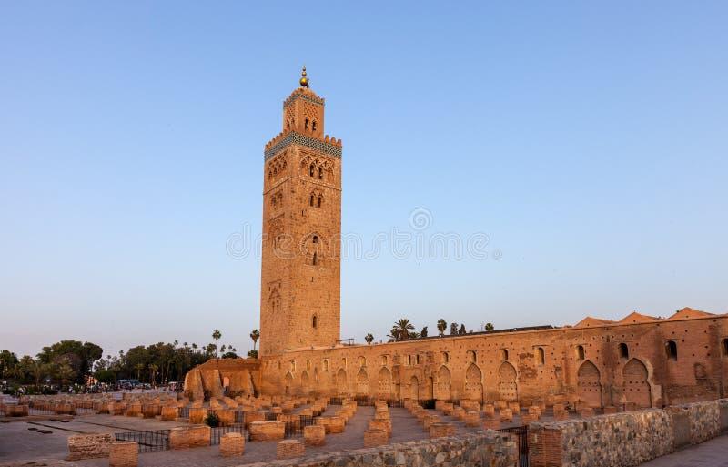 Koutoubiamoskee in Marrakech royalty-vrije stock afbeelding
