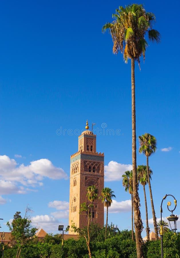 Koutoubiamoskee in Marrakech royalty-vrije stock foto's