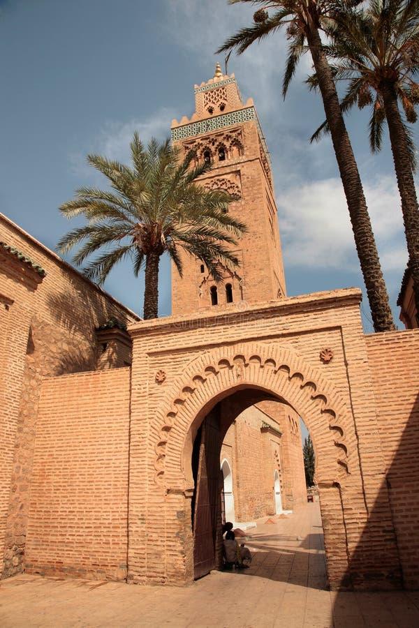 koutubia minaretu meczet obrazy stock