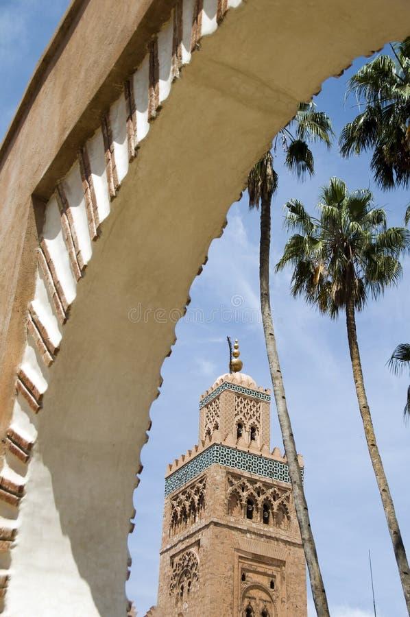 koutubiamarrakech morocco moské royaltyfri fotografi