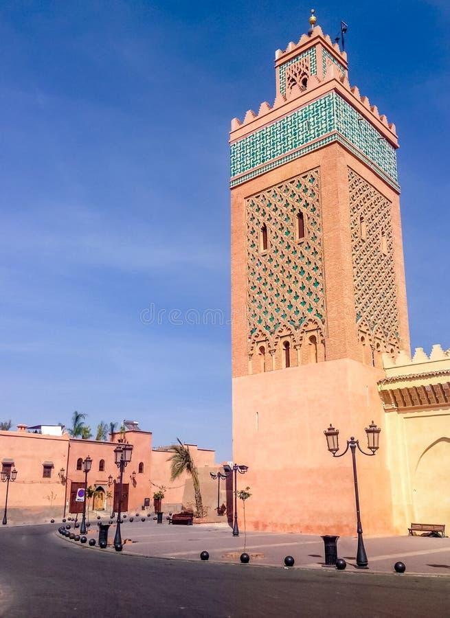 Koutubiamoskee - Marakech, Marokko stock foto