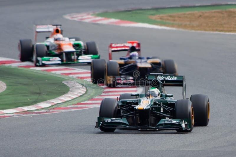 Kovalainen contre Ricciardo contre Di Resta - F1 2012 photos stock