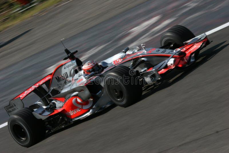 Kovalainen Heikki auf Mercedes f1 lizenzfreie stockfotos
