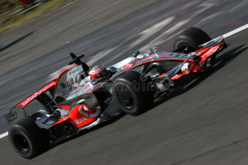 Kovalainen Heikki em Mercedes f1 fotos de stock royalty free