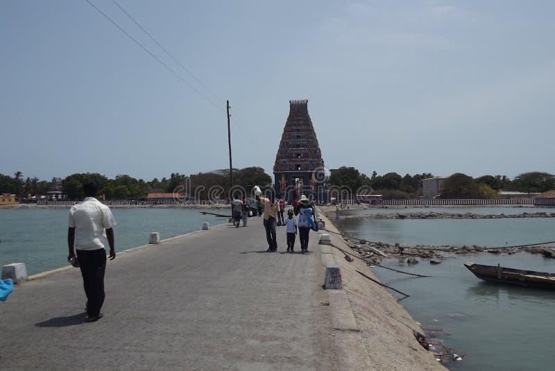 Kovil indù a Nagadeepa, Jaffna, Sri Lanka fotografia stock libera da diritti