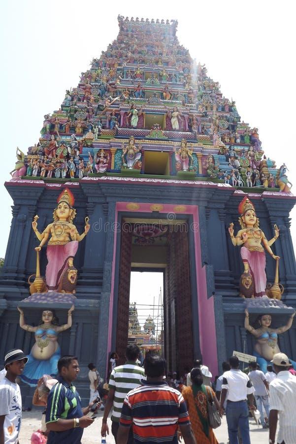 Kovil indù a Nagadeepa, Jaffna, Sri Lanka fotografia stock
