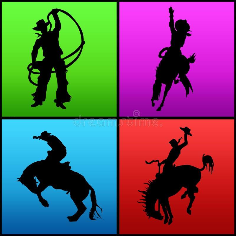 kowbojów. royalty ilustracja