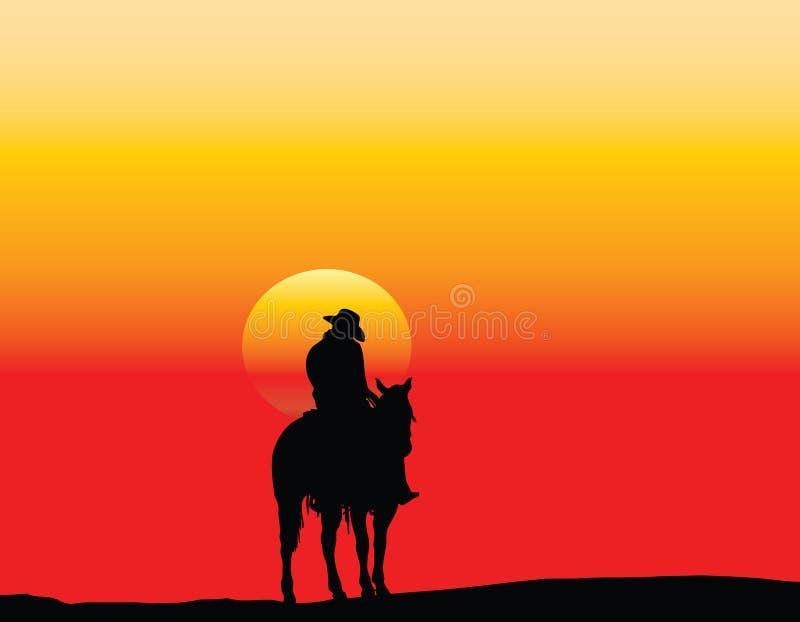 kowboj osamotniony royalty ilustracja
