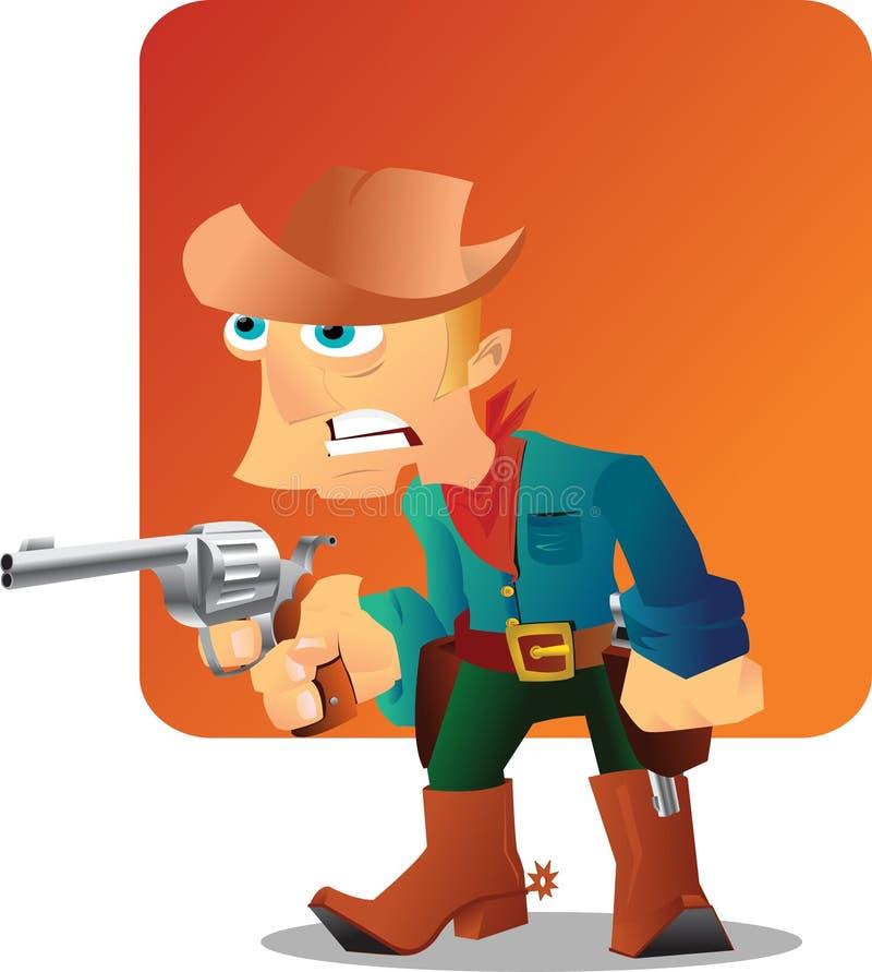 kowboja pistolet zdjęcia stock