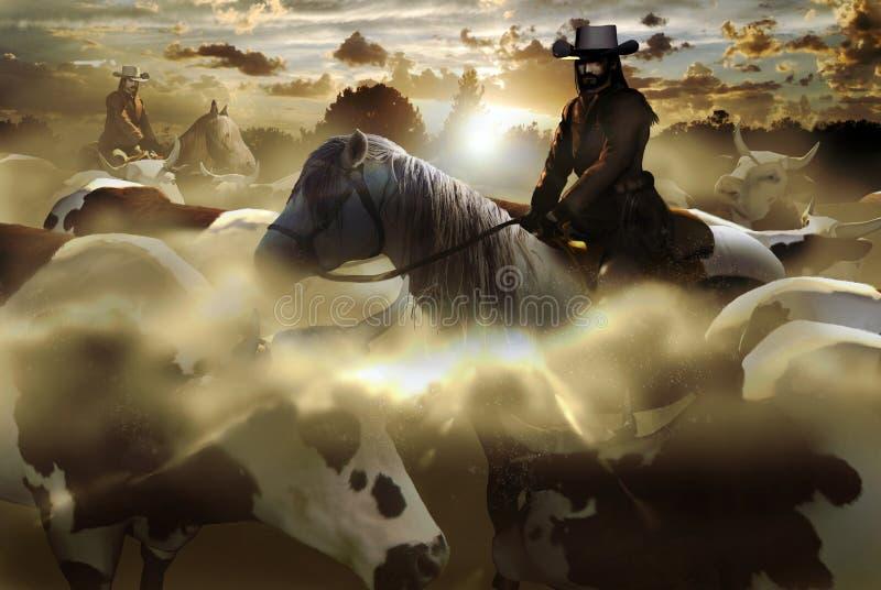 kowboje royalty ilustracja