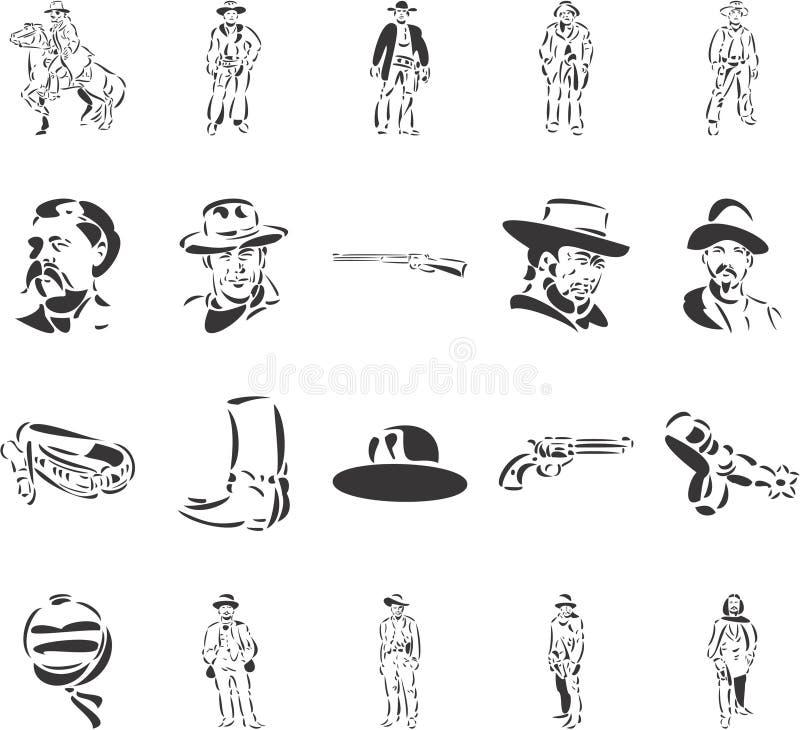 kowboje ilustracji