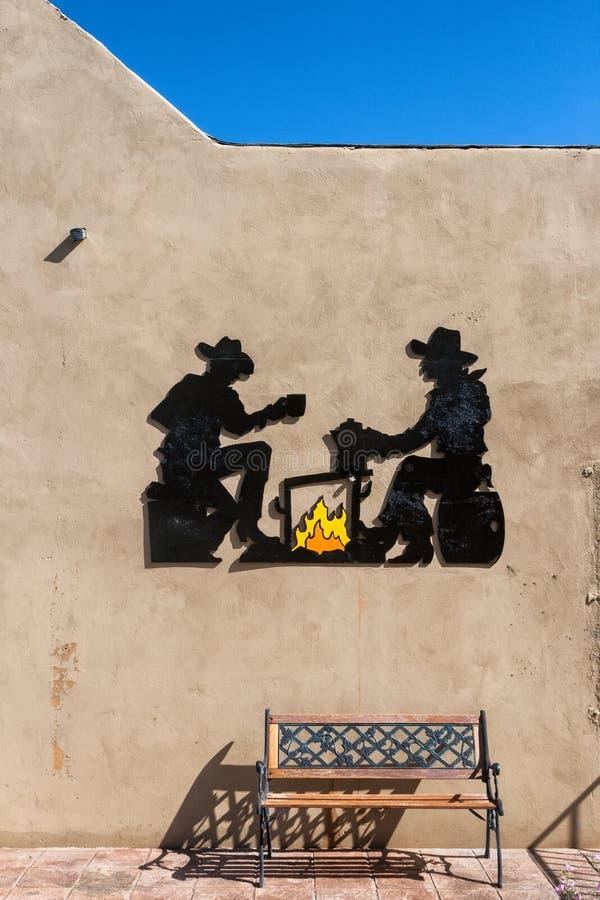 Kowboje biwakują grafika fotografia stock