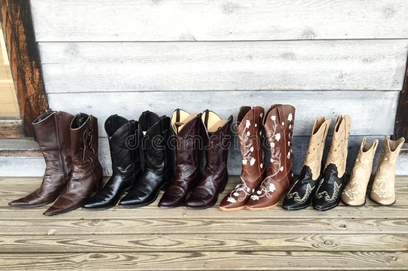 kowbojka buty obraz stock