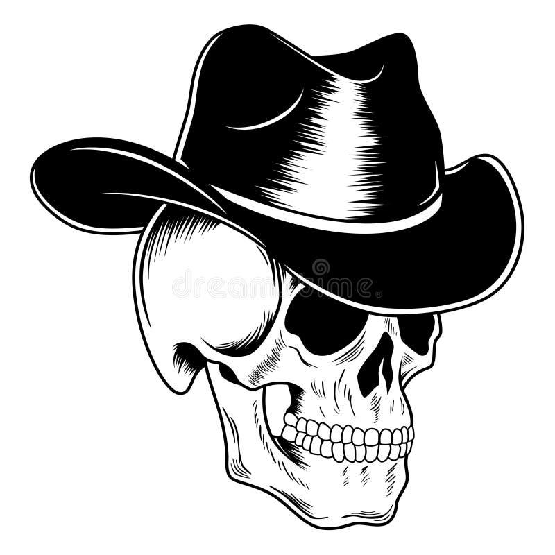 Kowbojska czaszka royalty ilustracja