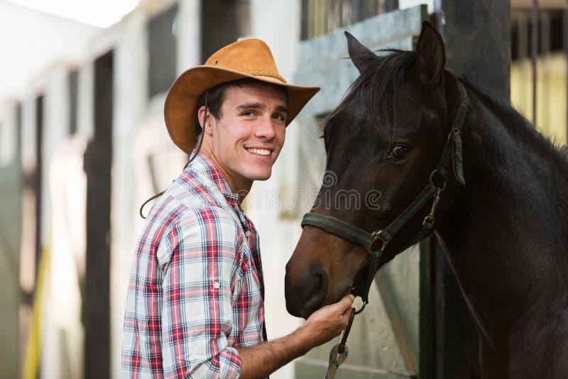 Kowbojska końska stajenka obrazy stock