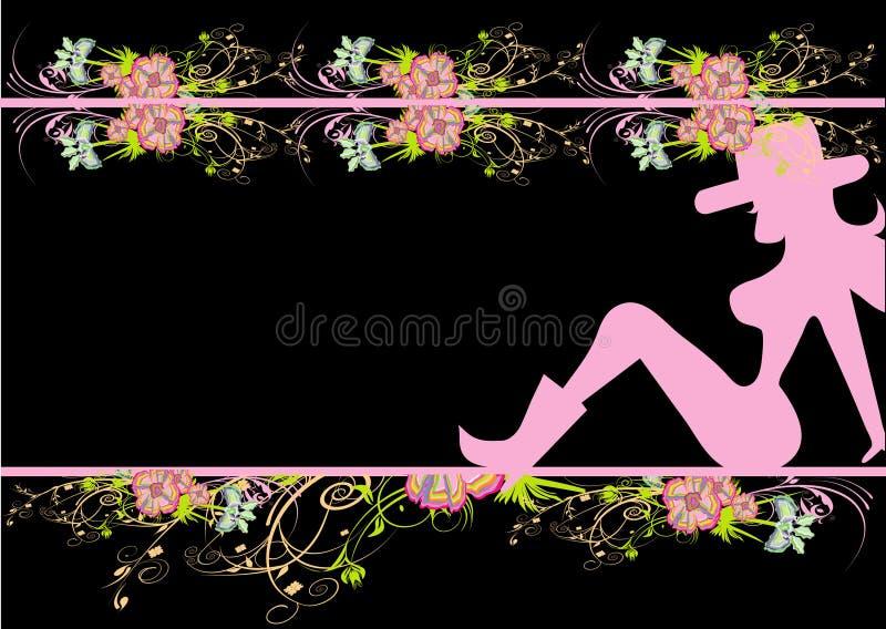 Download Kowbojska kobieta ilustracja wektor. Obraz złożonej z wyrażenia - 23484187