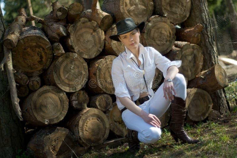kowbojska kobieta zdjęcie royalty free