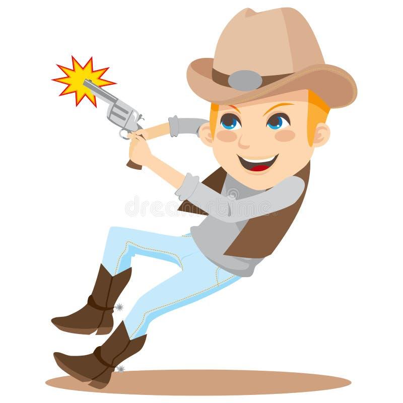 kowbojska strzelanina ilustracja wektor