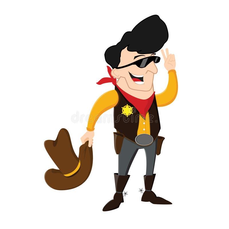 Kowbojska szeryfa postać z kreskówki ilustracja royalty ilustracja