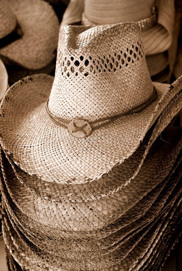 kowbojski kapelusz sterta zdjęcia royalty free
