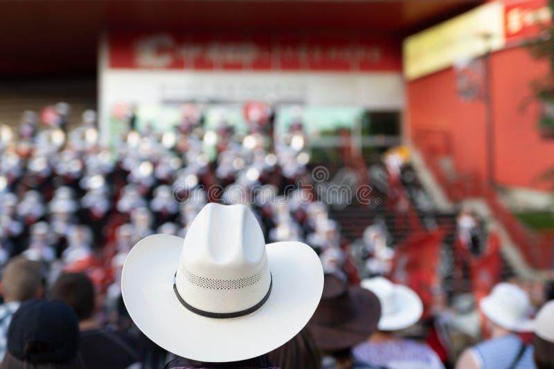 Kowbojski kapelusz w ostrości przy Calgary paniką obraz stock