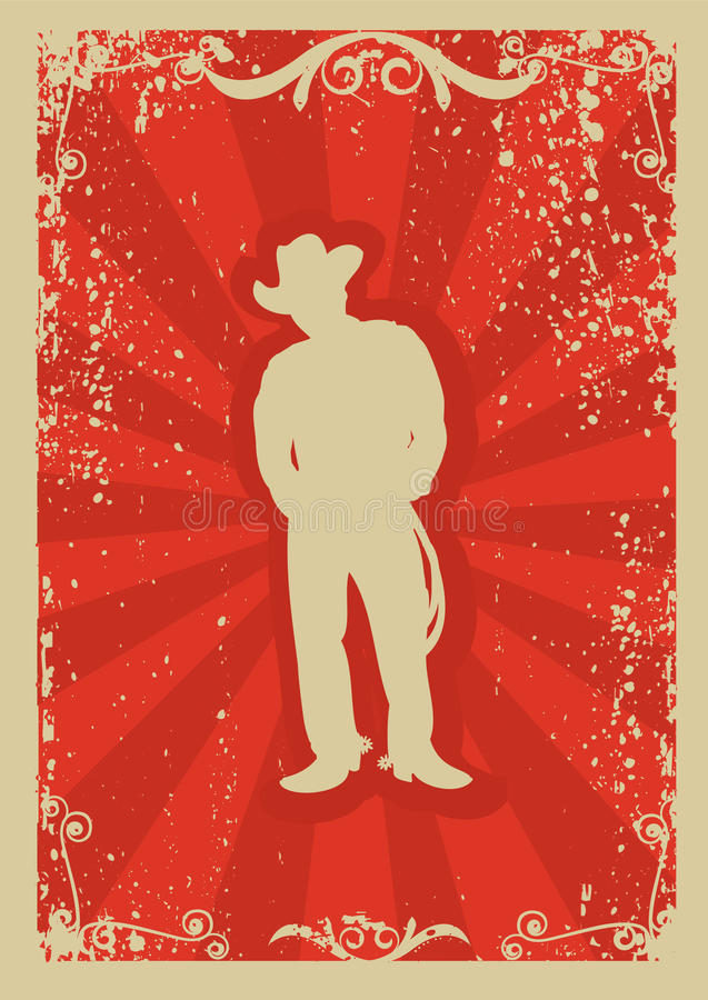kowbojski plakat royalty ilustracja