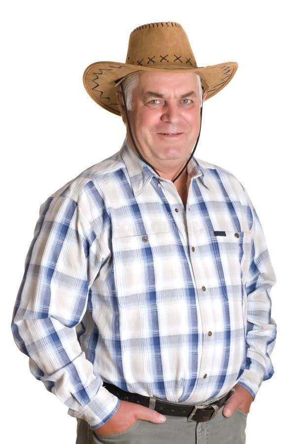 kowbojski starszy kapeluszowy mężczyzna obraz stock